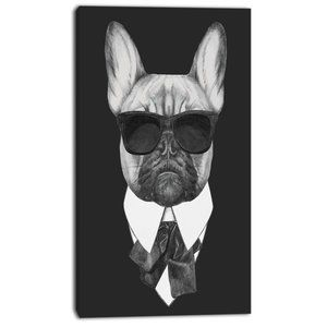 "OBO French Bulldog Fashion 16"" x 31"" canvas print"